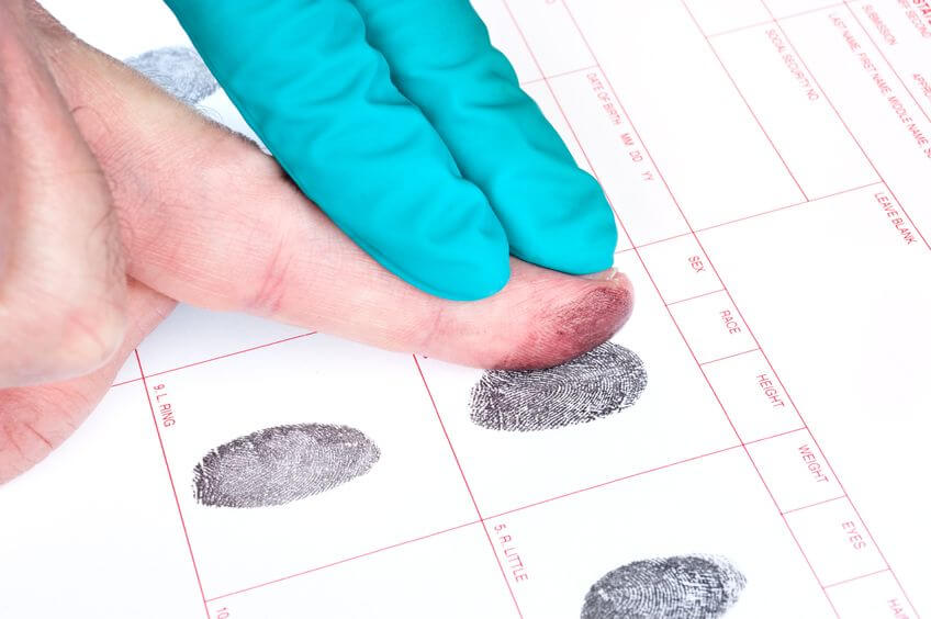 fingerprint for background check