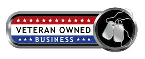 Veteran Owned Business Logo dog tags